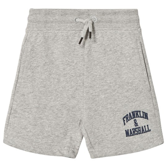 Franklin & Marshall Gray Badge Logo Sweat Shorts VINTAGE GREY HEATHER