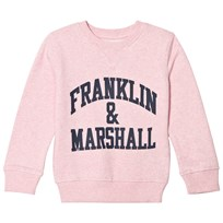 Franklin & Marshall Pink Marl Branded Sweatshirt POWDER PINK MARL
