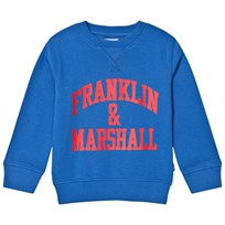 Franklin & Marshall Blue Branded Sweater VICTORIA BLUE