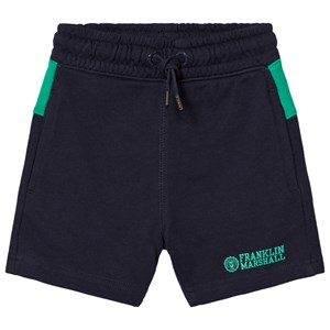 Image of Franklin & Marshall Navy and Green Branded Logo Sweatshorts 10-11 years (3014545069)
