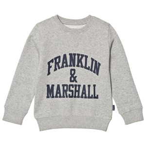 Image of Franklin & Marshall Gray Logo Sweatshirt 5-6 år (1058485)