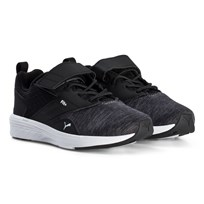 Puma NRGY Comet Kids Running Shoes Asphalt/Black Asphalt-puma Black-puma White
