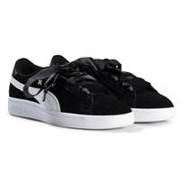 Puma Smash V2 Ribbon Junior Sneakers Black Puma Black-puma White