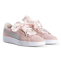 Puma Smash V2 Ribbon Junior Sneakers Pearl/Silver Pearl-puma Silver