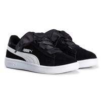 Puma Smash V2 Ribbon Kids Sneakers Black Puma Black-puma White