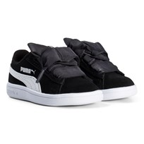 Puma Smash V2 Ribbon Infant Sneakers Black Puma Black-puma White