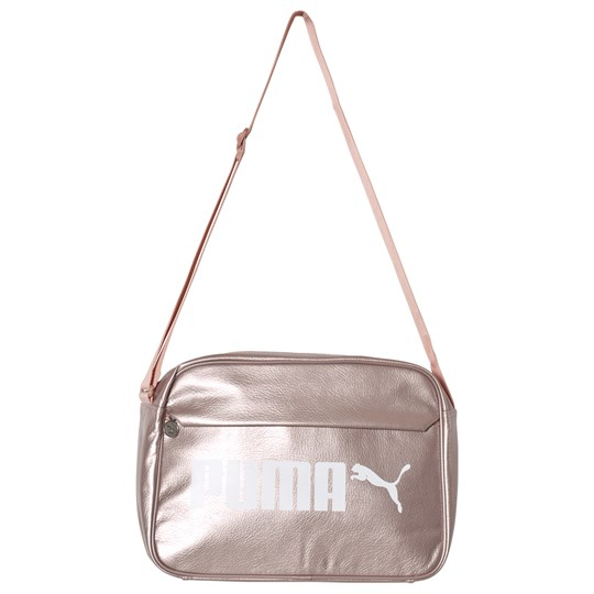 Puma - Campus Reporter Bag Peach Beige-Metallic - Babyshop.com 78c23a3471e