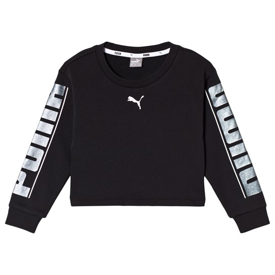 Puma Style Crew Sweater Black Cotton Black