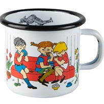 Muurla Pippi Mugg Cup of Coffee 25 dl Hvid