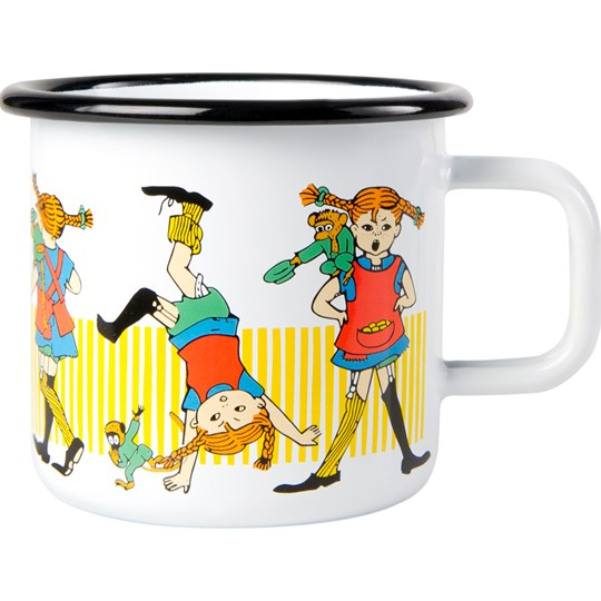 Muurla Pippi Mug - Pippi Longstocking 370 ml White