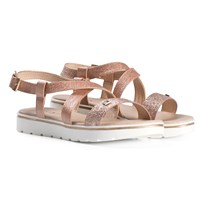 Tommy Hilfiger Pink Glitter Branded Strappy Sandals 308