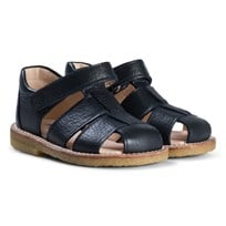 Angulus Black Closed Toe Fisherman Sandals sauvage 1530