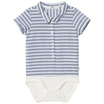 ebbe Kids Fridolf body shirt Navy stripes Navy stripes