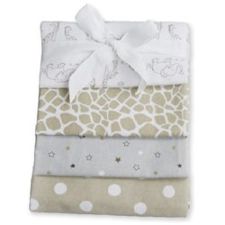 Carlobaby Pack of 4 Cotton Muslins