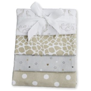 Image of Carlobaby Pack of 4 Cotton Muslins (3059474621)