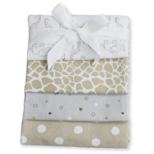 Carlobaby Pack of 4 Cotton Muslins White