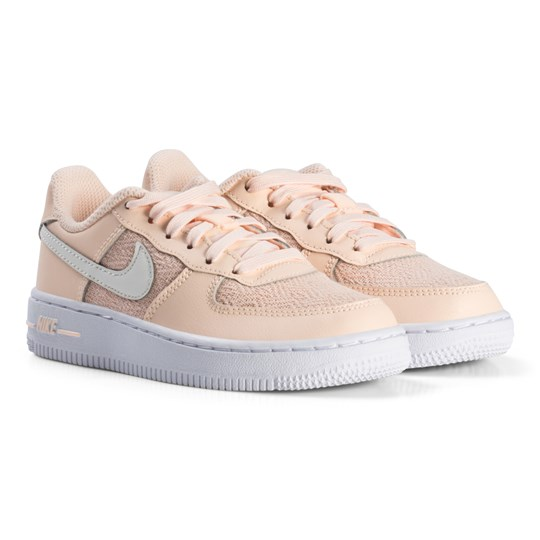 NIKE White Nike Air Force 1 Kids Shoe 800