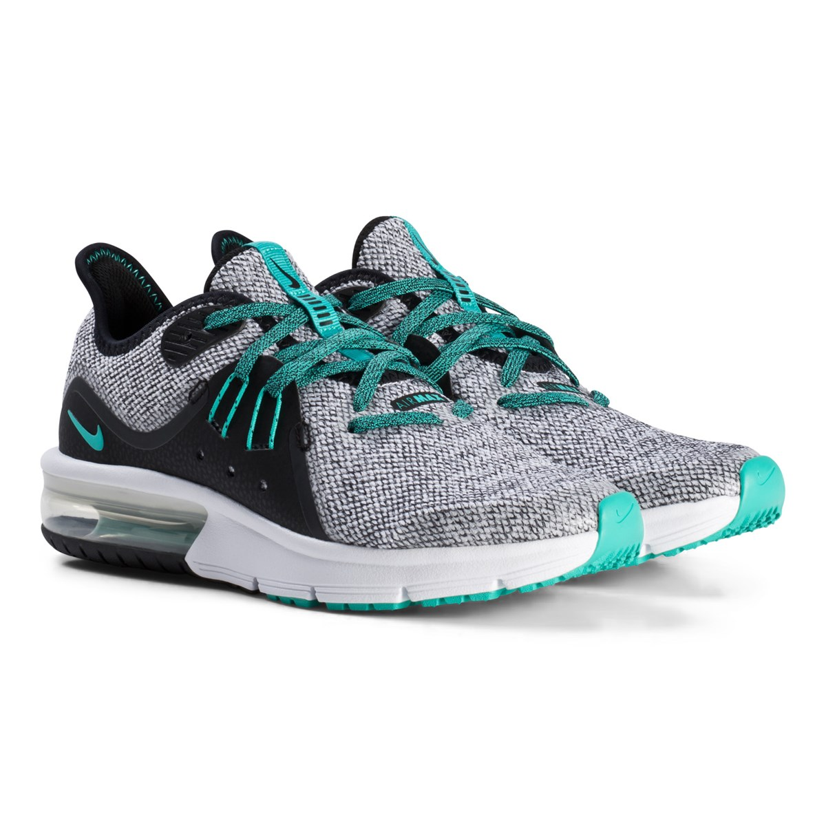 NIKE - Gray and Green Air Max Sequent 3