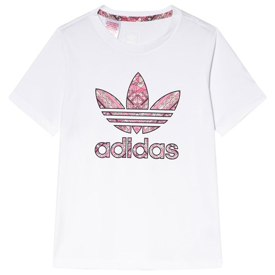 adidas Originals White Paisley Logo T-Shirt WHITE/MULTICOLOR