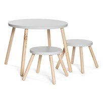 JOX Table with 2 Stools Grey Sort