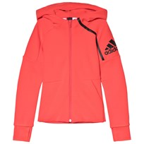 adidas Performance Coral Girls Zone Hoodie REAL CORAL S18/BLACK