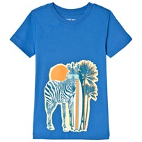 Lands End Blue Surf Zebra T-shirt 7R5