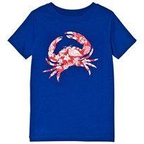 Lands End Blue Patterned Crab T-shirt 6XA