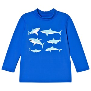 Image of Lands End Blue Shark Graphic Rash Guard 4 years (3015413415)