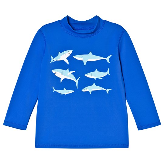 Lands End Blue Shark Graphic Rash Guard 7J2
