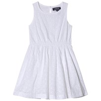 Lands End White Woven Twirl Dress WHI