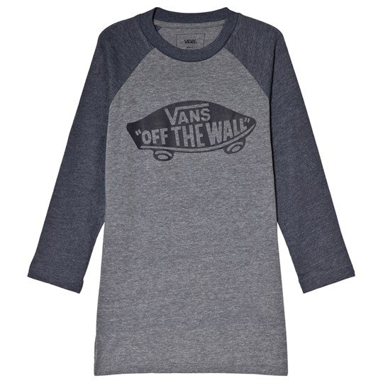 Vans Heather Gray and Navy Long Sleeved T-Shirt HEATHER GREY-HEATHER NAVY