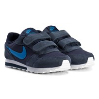 NIKE Obsidian Blue MD Runner 2 Kids Shoes 410