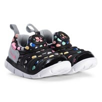 NIKE Dynamo Free Print Infants Shoes Black Pink Beam 003