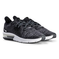 NIKE Black Nike Air Max Sequent 3 Running Shoe 001