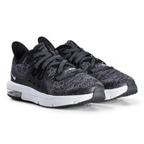 NIKE Black Nike Air Max Sequent 3 Kids Shoe 001