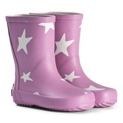 Ticket to heaven Stars Rubber Boots Violet
