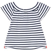 Lands End Navy and White Striped Top 8AG