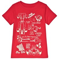 Lands End Red Race Cars T-Shirt 7RX