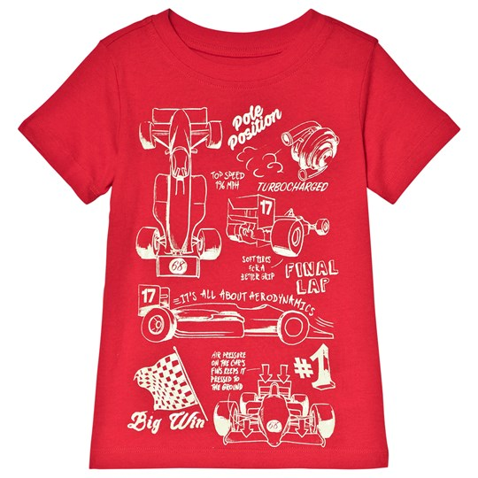 Land`s End Red Race Cars T-Shirt 7RX
