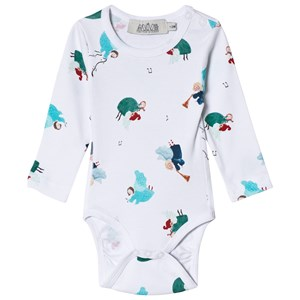 Image of Anïve For The Minors Angel Print Baby Body 1-2 mdr (3015413163)
