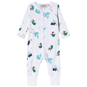 Image of Anïve For The Minors Angel Print Baby Jumpsuit 6-9 mdr (3015413119)