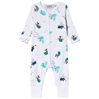 Anïve For The Minors Angel Print Baby Jumpsuit Multi
