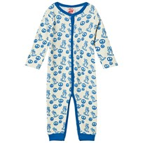 Tootsa MacGinty Blue Peace Sign Footless Baby Body Bright Blue