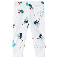 Anïve For The Minors White Angel Print Baby Leggings Multi