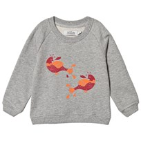 Anïve For The Minors Gray Birds Sweater Gray