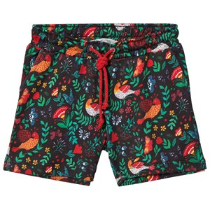 Image of Anïve For The Minors Black Babylon Print Shorts 1-2 år (3015417687)