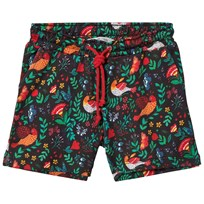 Anïve For The Minors Black Babylon Print Shorts Multi