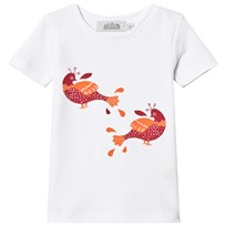 Anïve For The Minors White Bird Print T-Shirt White