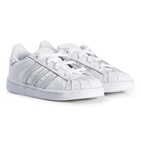 adidas Originals White and Silver Infants Superstar Trainers FTWR WHITE/FTWR WHITE/FTWR WHITE