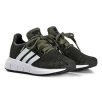 adidas Originals Khaki Swift Run Infants Trainers BASE GREEN S15/FTWR WHITE/CORE BLACK